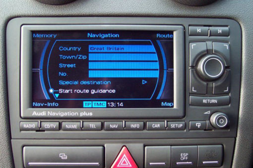 на екрана има картина но е без осветление Navigation Plus RNS-E